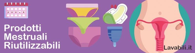 Prodotti interni e esterni lavabili per il ciclo mestruale